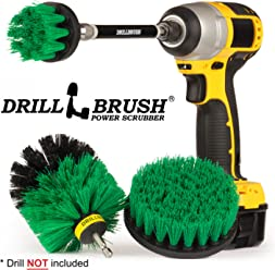 Drill Brush - Household Cleaners - Kitchen - Cleaning Supplies - Scrub Brush - Oven - Stove Top Cleaner - Countertop - Backsplash - Sink - Dish Brush - Pots and Pans - Cast Iron Skillet - Frying Pan
