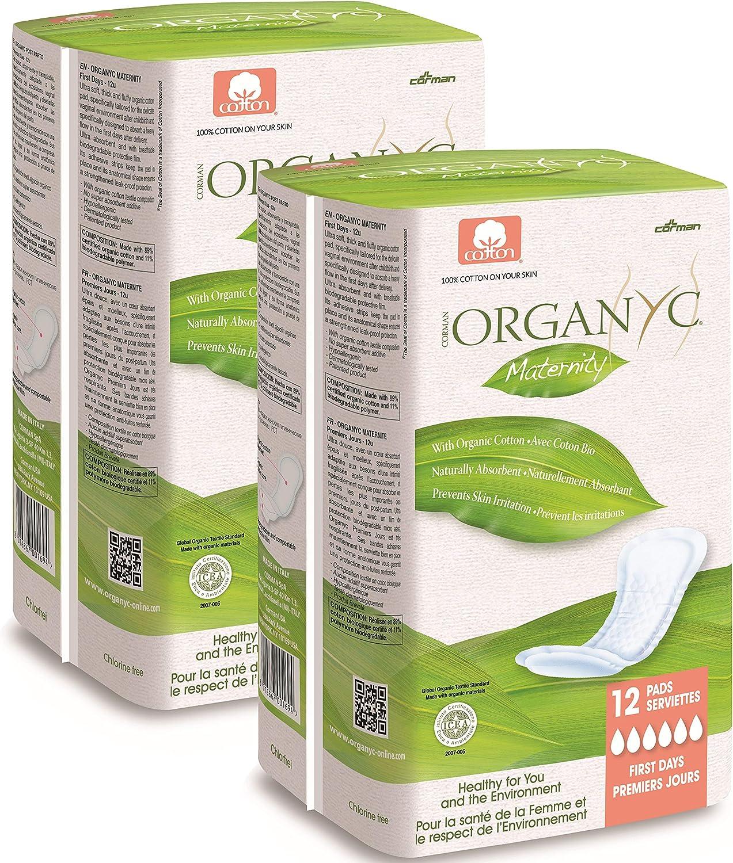 Organyc Bio Baumwolle Mutterschaft Pads 2/x 12/Pads