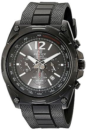 6f3431347 Image Unavailable. Image not available for. Color: Casio Men's  EFR-545SBPB-1BVCF Edifice Tough Solar Black Watch