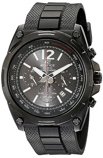 8404d3411e75 Casio Hombre EFR-545SBPB-1BVCF Edifice Tough Solar Reloj Negro  Amazon.es   Relojes
