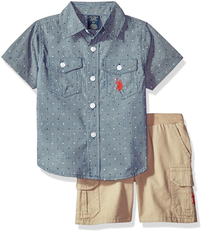 U.S Boys Sport Shirt and Short Set Polo Assn