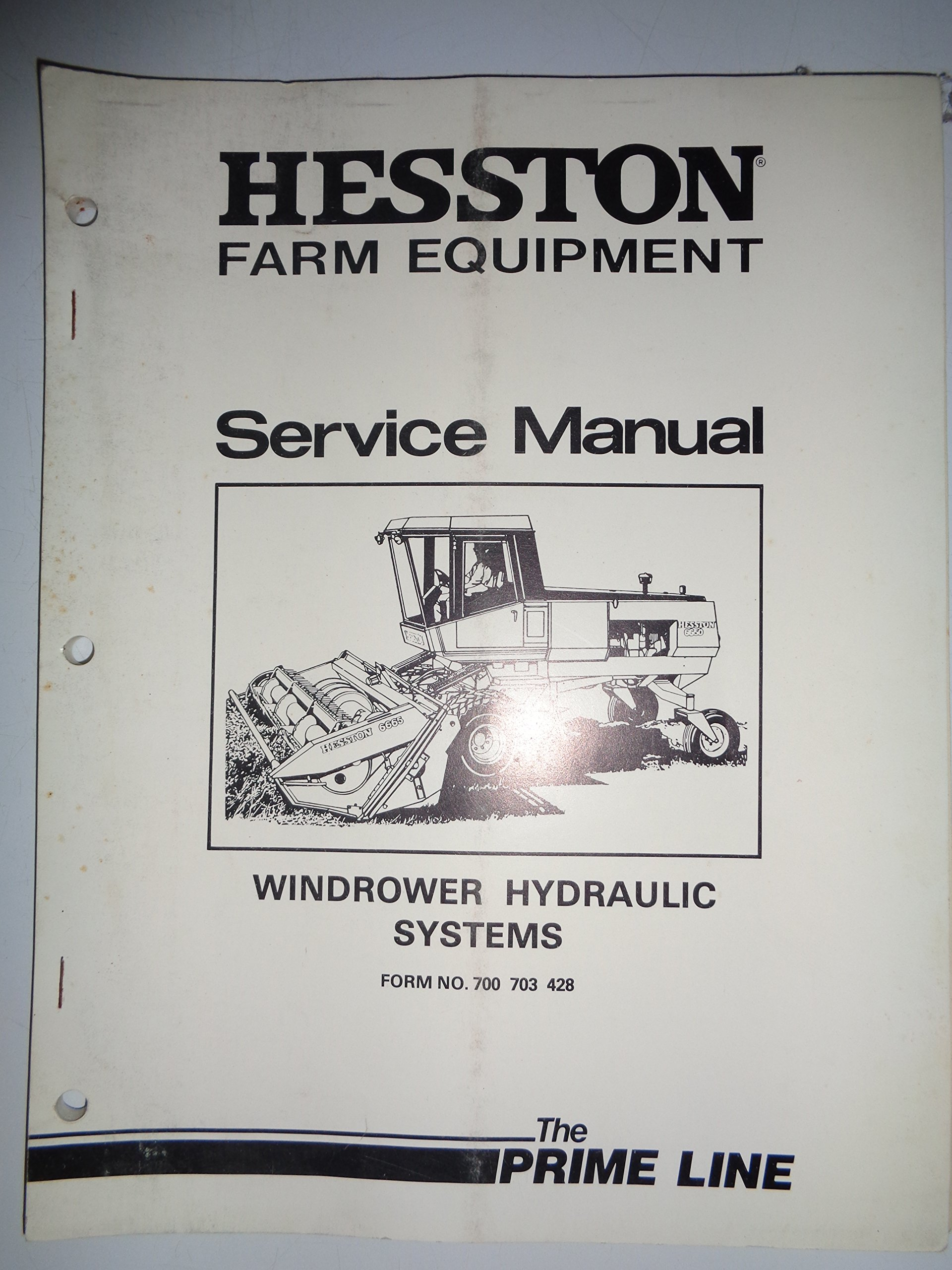 Hesston HYDRAULIC SYSTEM Service Repair Manual for the Model 700 703 428  Windrower: HESSTON, Heston: Amazon.com: Books