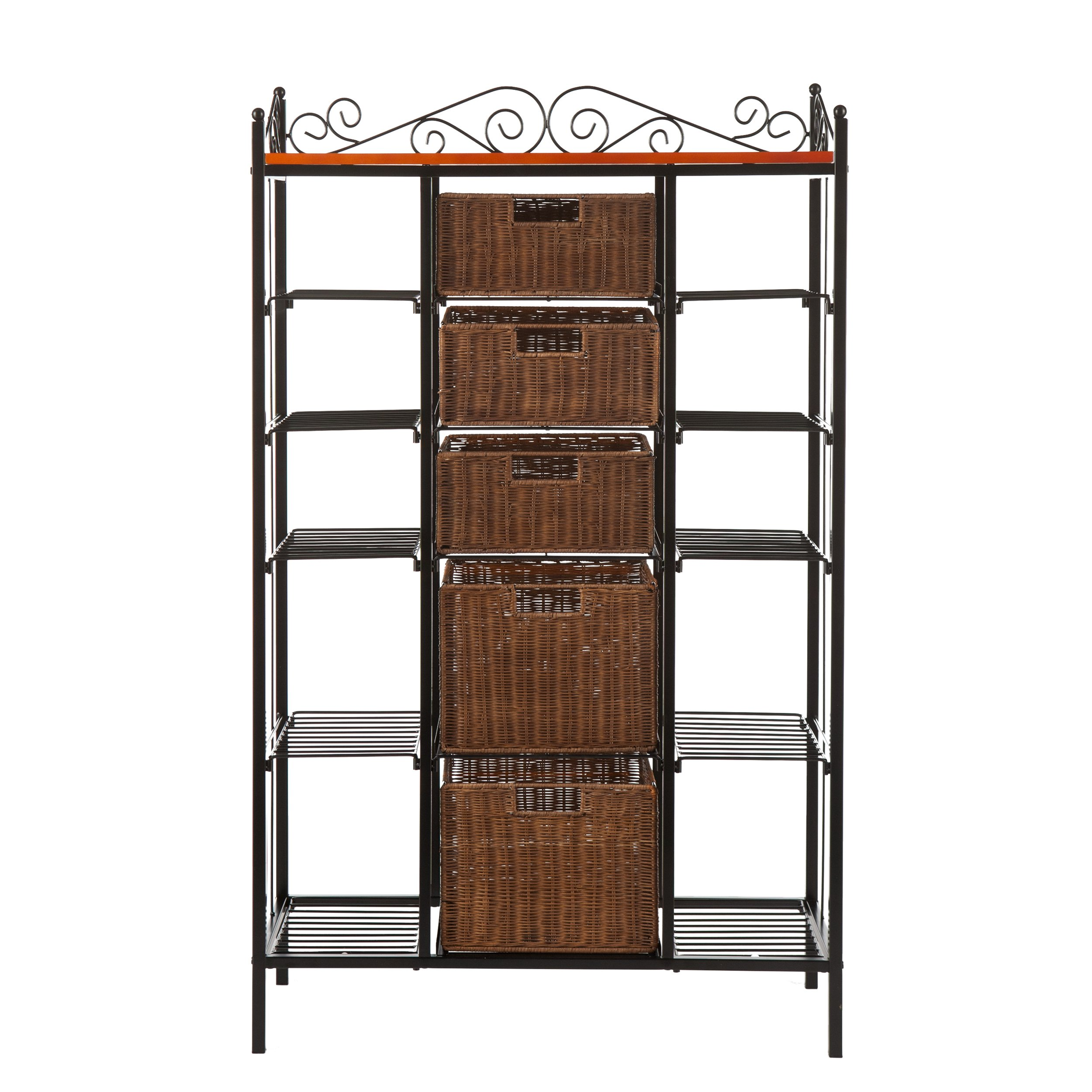 SEI Manilla 5-Drawer Baker's Rack by Southern Enterprises, Inc. (Image #1)