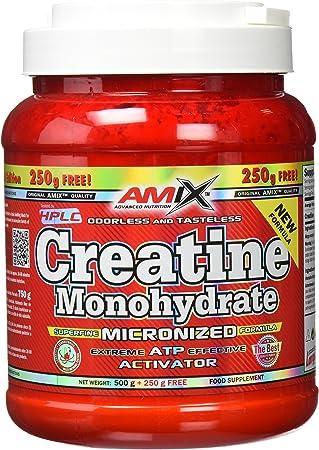 AMIX - Creatina Monohidratada - 500 Gramos + 250 Gramos Gratis - Complemento Alimenticio - Mejora el Rendimiento Físico - Ideal para Deportistas - ...