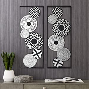 Newhill Designs Black and White Discs 35 1/2