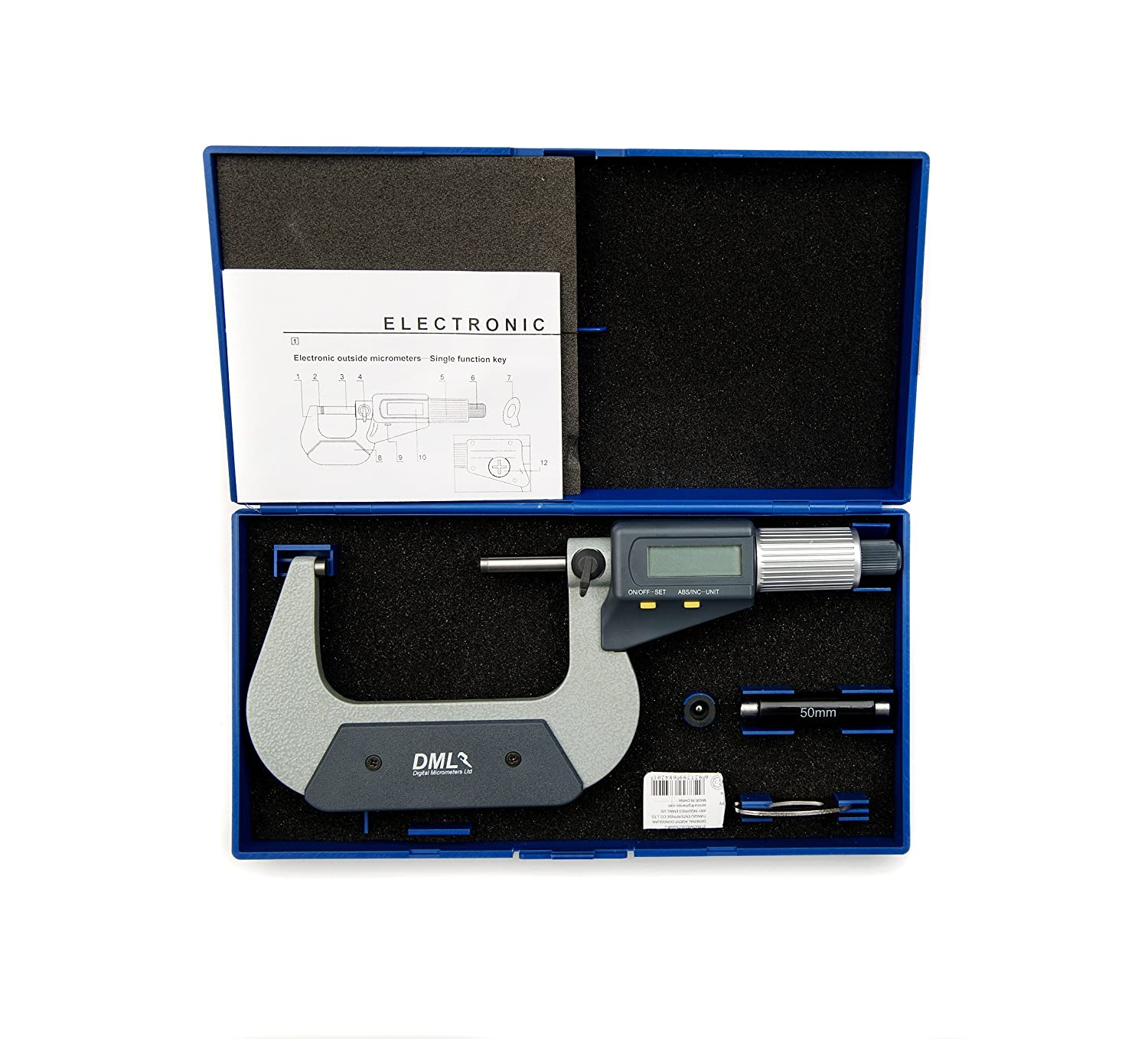 DML 50-75mm Digital Micrometer External Electronic Gauge 12 Months Warranty Digital Micrometers Ltd DM3075
