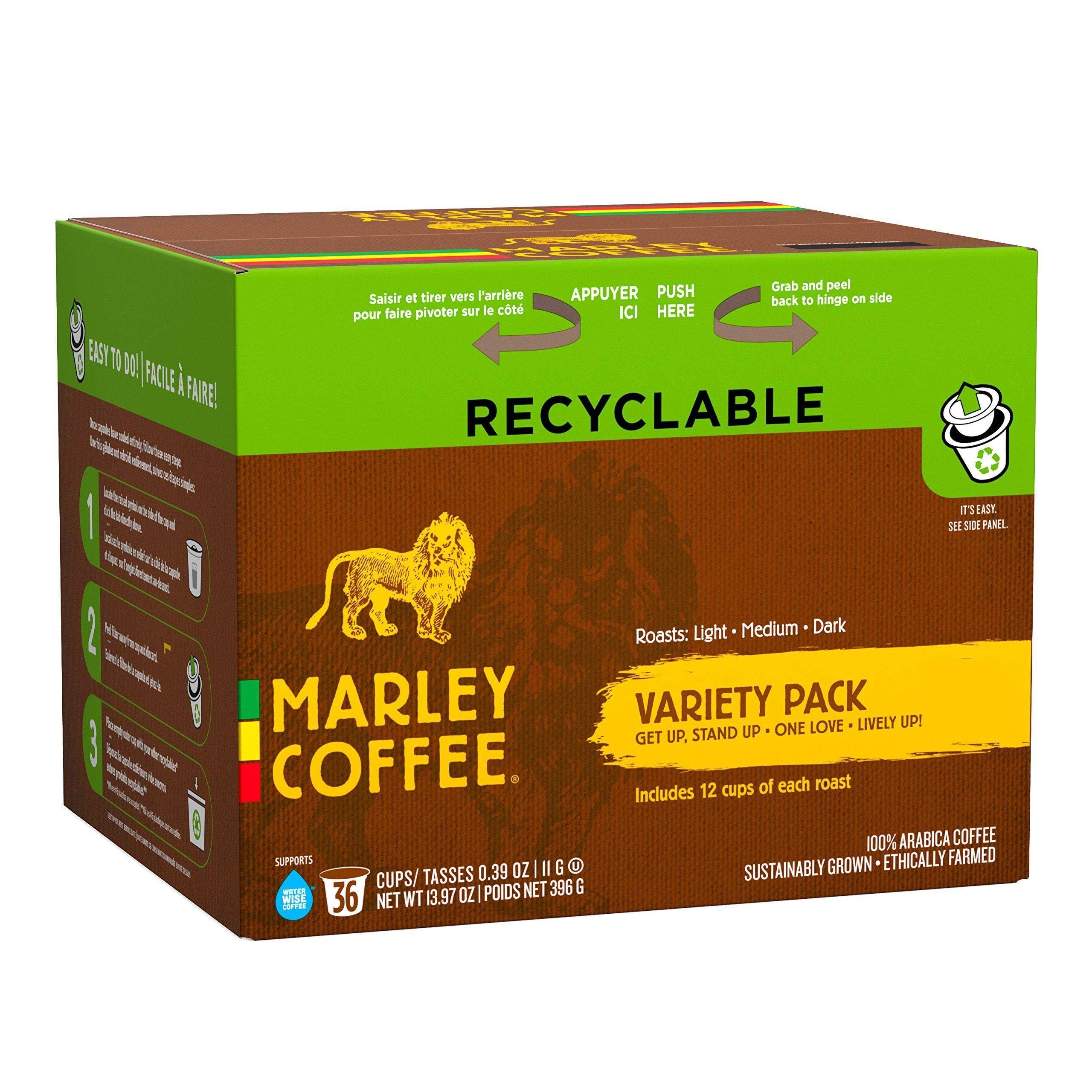 Marley Coffee Single Serve K-cup Capsules, Variety Pack, Keurig Brewer Compatible,
