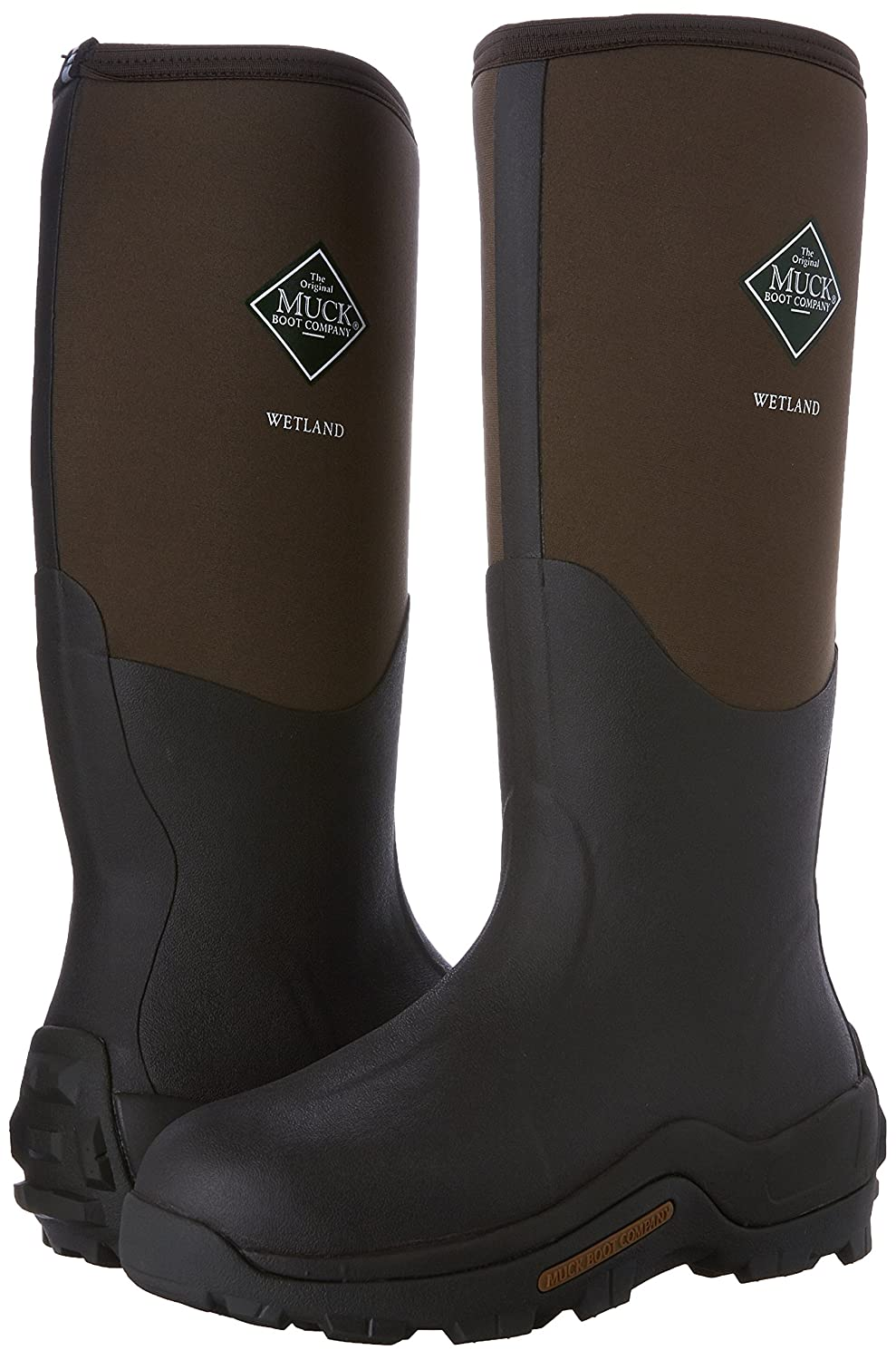 Muck Boots WETLAND Unisex Waterproof Wellington Boots Bark: Amazon ...
