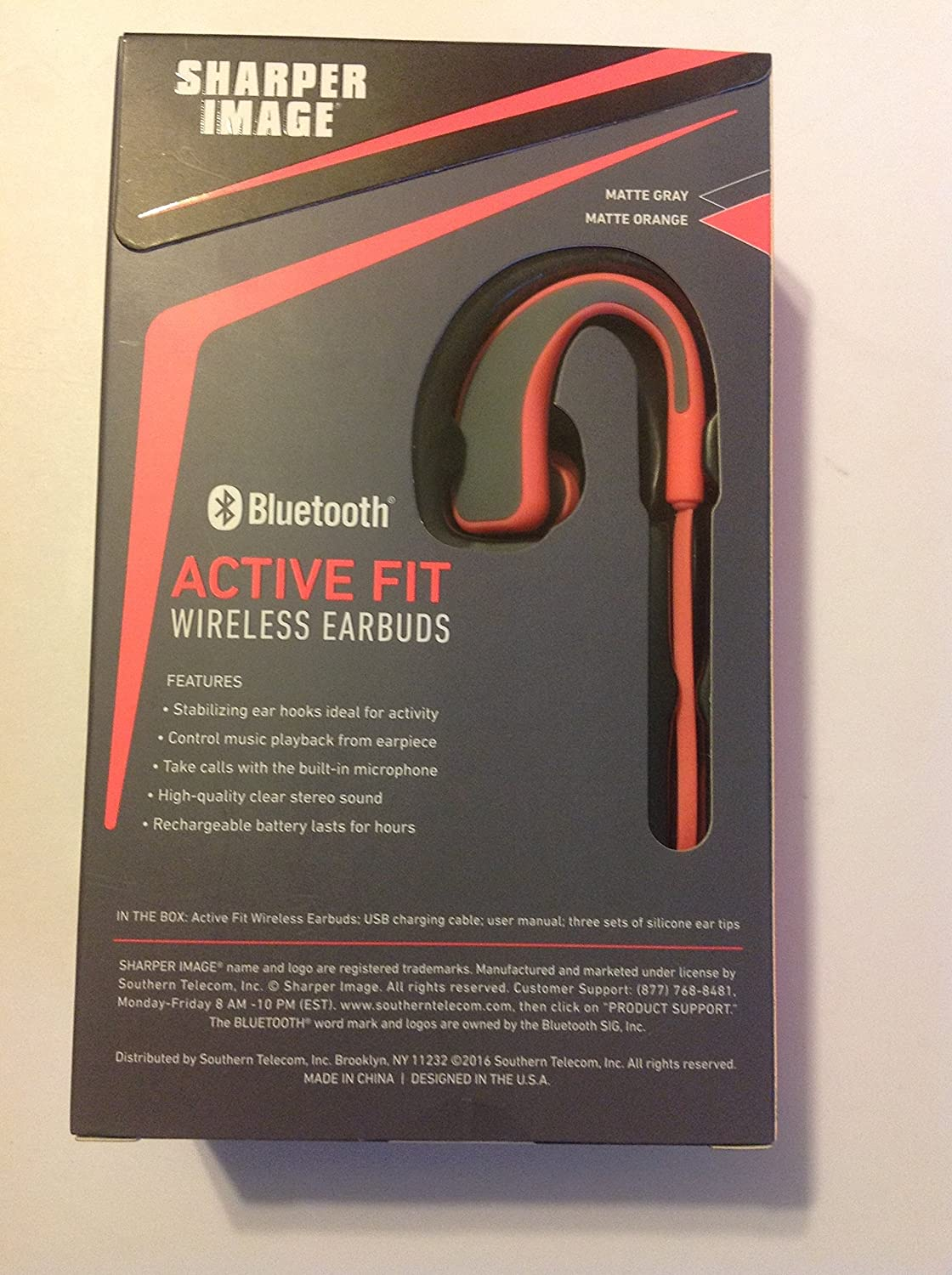Amazoncom Sharper Image Sbt528or Bluetooth Active Fit Wireless