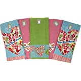 "Bless Your Heart Absorbent 100% Cotton Kitchen Towel 5 Piece Set, 6718, 27x16"", Multi"