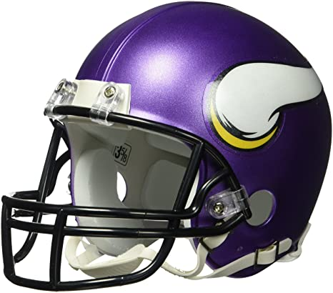 7afc7d55f8a Amazon.com   NFL Minnesota Vikings VSR4 Mini Helmet   Sports Related ...