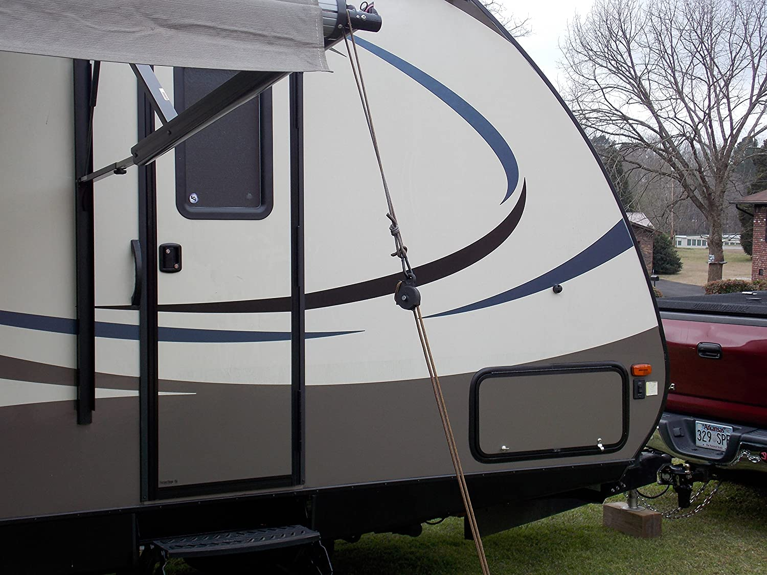 Awning Tie Down Kit Made in USA Campers RVs With Screw in Anchors