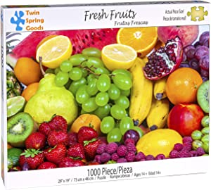 Twin Spring Goods 1000 Piece Jigsaw Puzzle, Fresh Fruits, 1,000 pcs