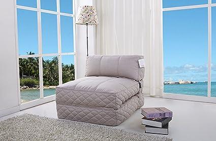 Gold Sparrow Austin Bean Bag Chair Bed, Latte