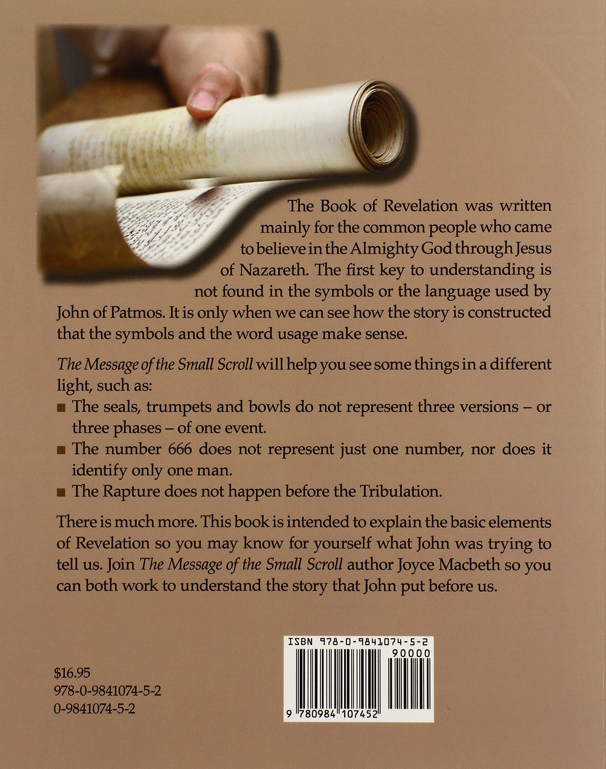 The secret of the small scroll a book about revelation joyce the secret of the small scroll a book about revelation joyce macbeth 9780984107452 amazon books buycottarizona