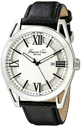 Kenneth Cole New York Mens KC8072 Classic Analog Display Japanese Quartz Black Watch