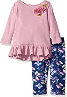 Pippa & Julie Girls' Long Sleeve Tunic and Legging Outfit Set