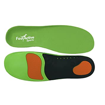 FootActive Sports Insoles - High Impact Full Length Advanced Orthotic Arch-Support Insoles for Sports