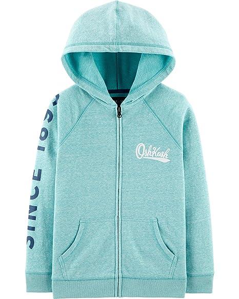 99724368dfb5 Amazon.com  OshKosh B Gosh Boys  Full Zip Logo Hoodie  Clothing