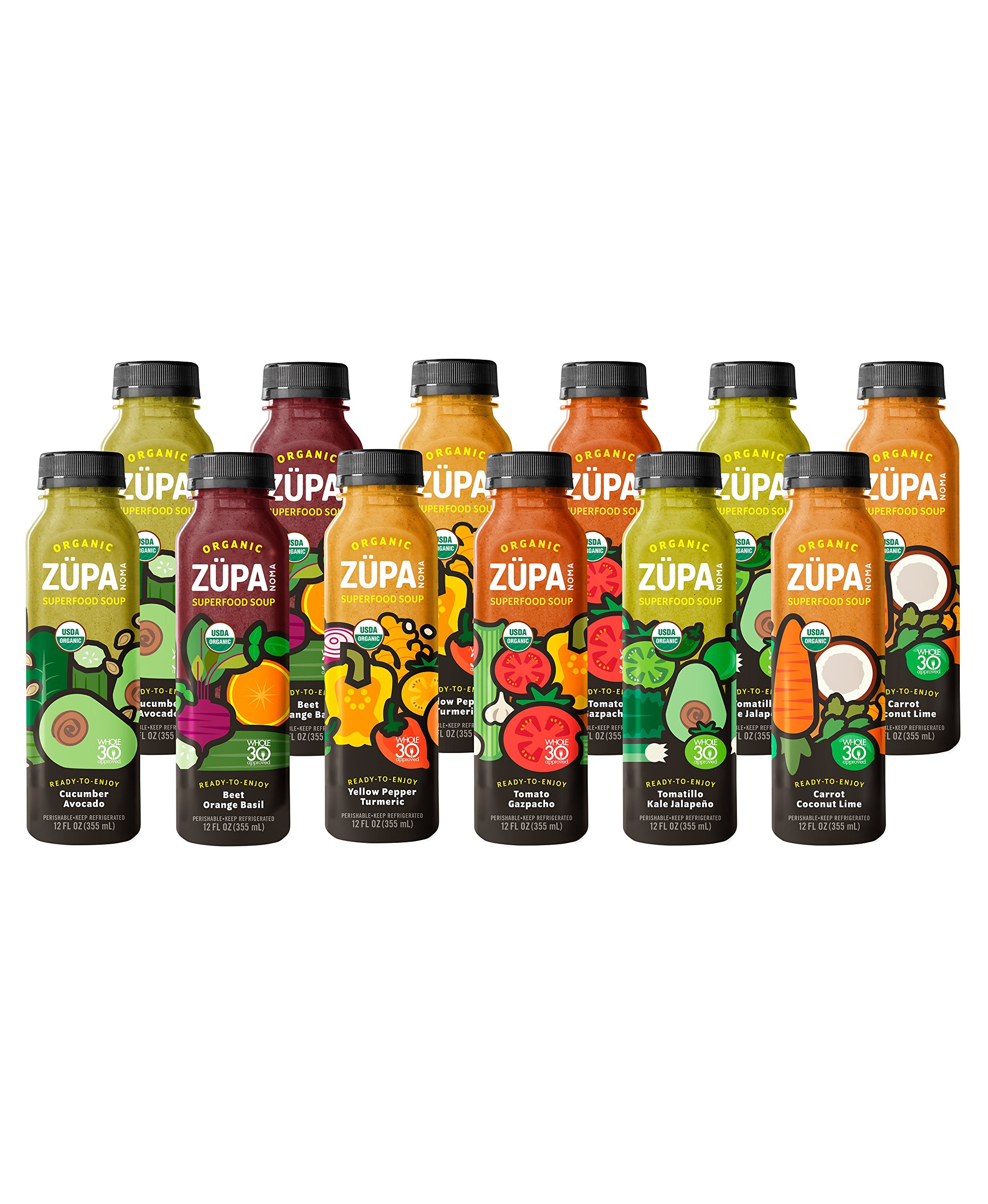 Organic Ready to Drink Whole30 Approved ZUPA NOMA Vegetable Superfood Soup Variety Pack (Vegan, Gluten-Free) by ZÜPA NOMA