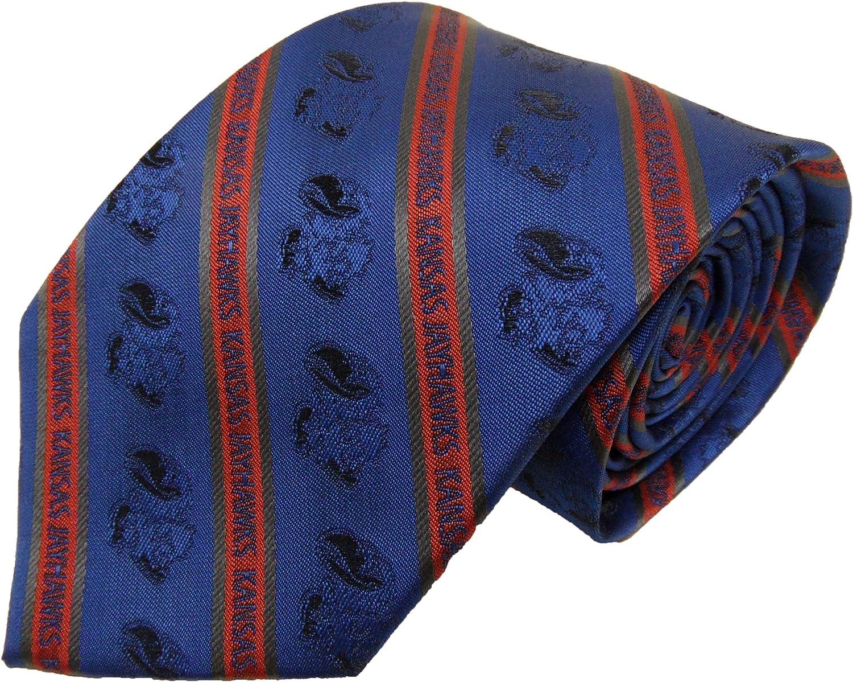 NCAA Kansas Jayhawks Tone on Tone Prep Necktie One Size Blue
