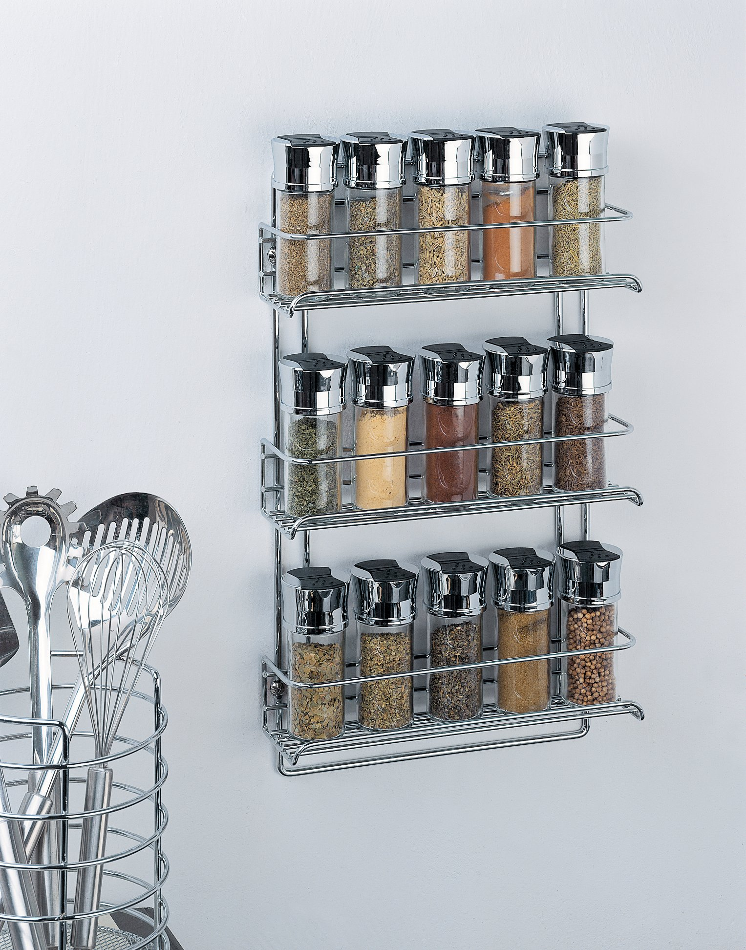Organize It All 3-Tier Wall-Mounted Spice Rack (Chrome) by Organize It All (Image #2)