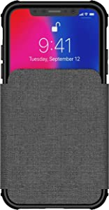 Ghostek Exec Leather Flip Card Slot Protective Phone Case Designed for iPhone Xs X – Gray