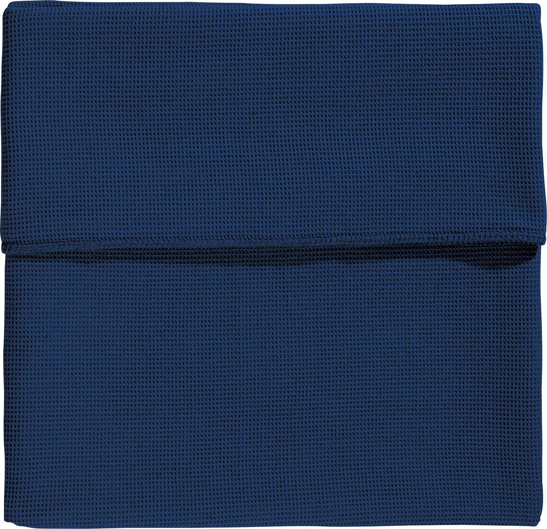 Erwin Müller Wohndecke Baumwolle marine Größe 220x240 cm