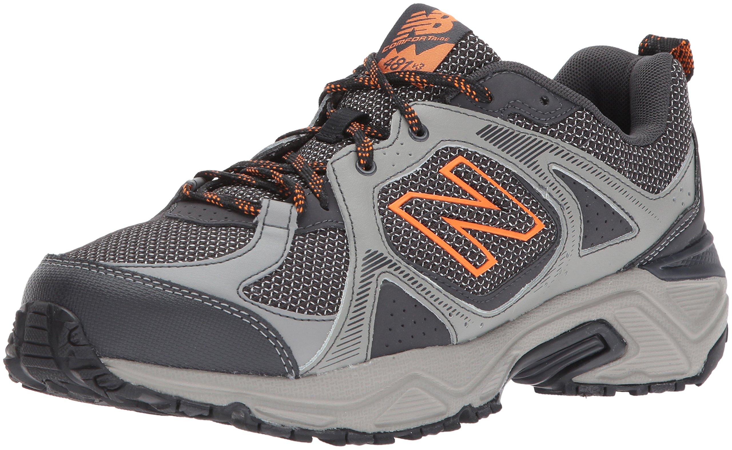 New Balance Men's 481V3 Cushioning Trail Running Shoe, Grey, 10.5 4E US by New Balance
