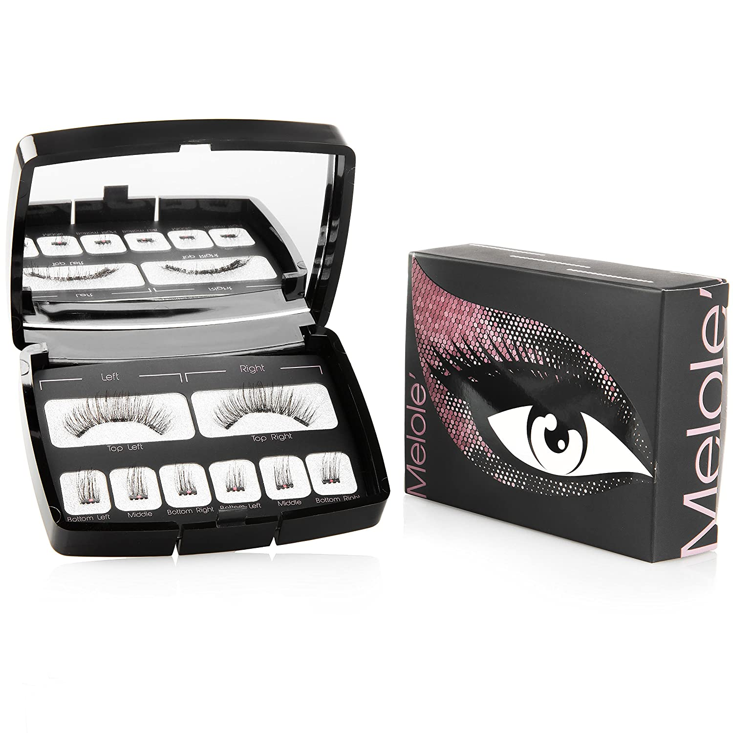 55b13869037 Amazon.com : Melole Full Eye Magnetic Eyelashes: No Glue Sophie Fake Eyelash  Extensions with 3 Magnets - Easy to Apply Reusable Magnetic Lashes with ...
