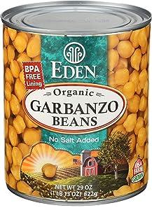 Eden Foods Organic Garbanzo Beans, 29 Ounce Can - 12 per case.