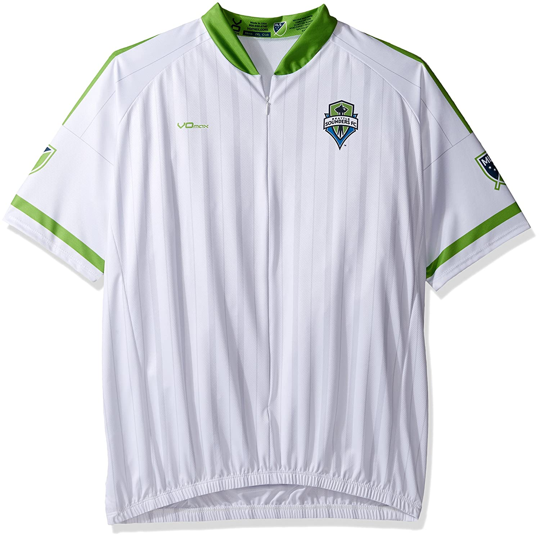 MLSメンズセカンダリ半袖サイクリングジャージー B017NQ07KQ Large|ホワイト|Seattle Sounders FC ホワイト Large