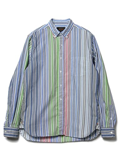 Stripe Buttondown Shirt 11-11-4002-139: Blue