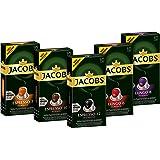 Jacobs Kapseln Vielfaltspaket - 50 Nespresso®*  kompatible Kaffeekapseln aus Aluminium - alle 5 Sorten (5 x 10 Kapseln)