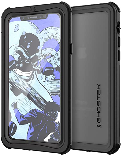 buy popular fb661 a9ae2 Ghostek Nautical Military Grade Waterproof Case Designed for iPhone X 10 -  Black