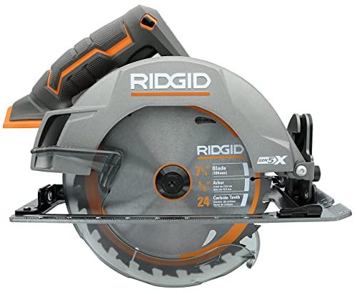 Ridgid Genuine OEM R8652 Gen5X Cordless 18V Lithium Ion Brush Motor 7 1 4 Inch Circular Saw Batteries Not Included, Power Tool and Single Blade Only