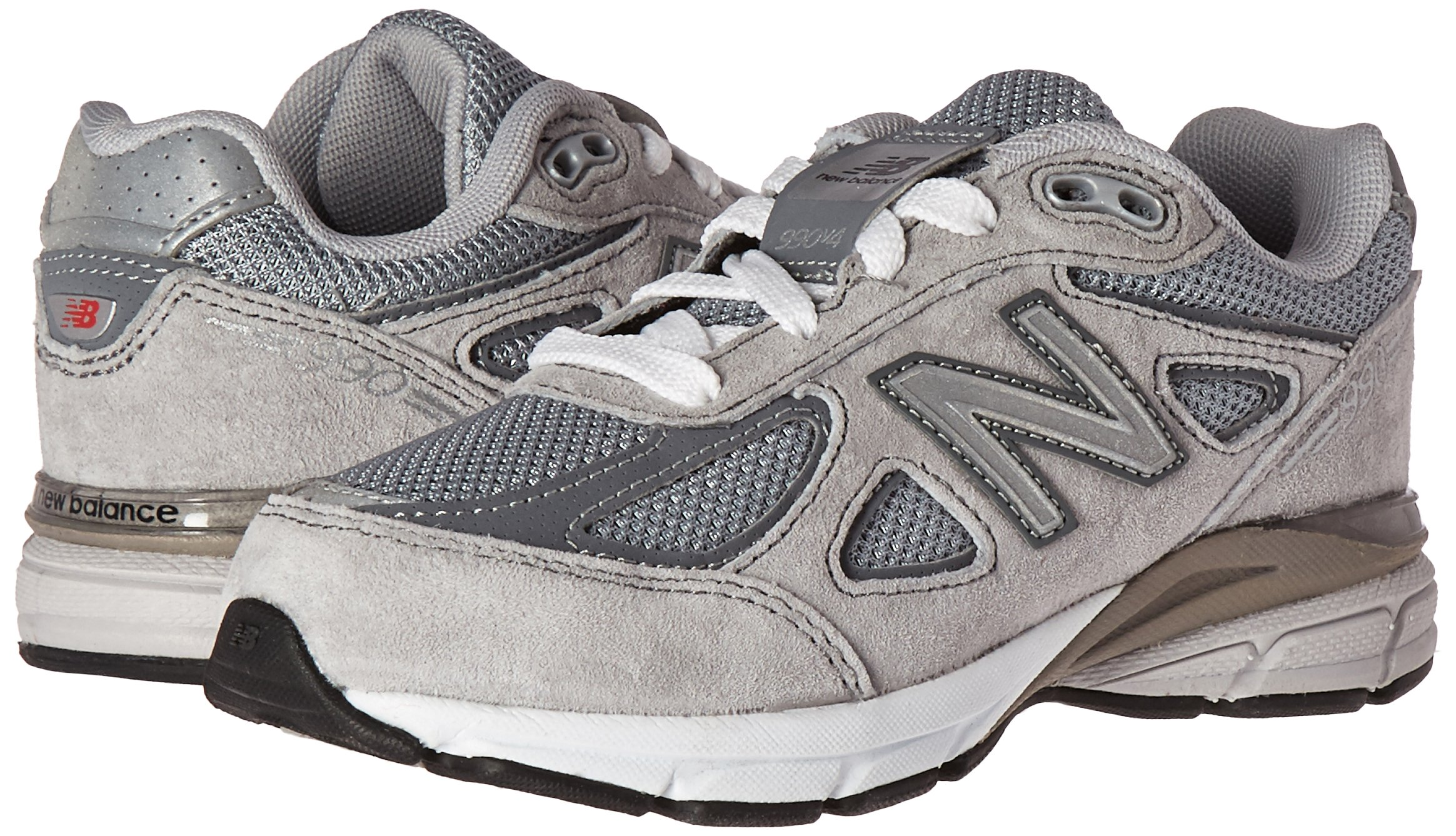 New Balance KJ990V4 Running Shoe (Little Kid/Big Kid), Grey/Grey, 1.5 M US Little Kid by New Balance (Image #6)