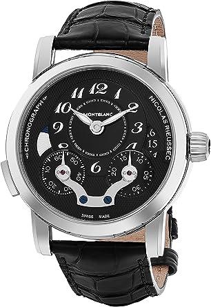 cce5aff087a Montblanc Nicolas Rieussec Chronograph Automatic Black Dial Mens Watch  106488