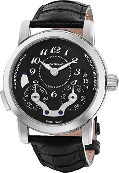 Reloj Montblanc Nicolas Rieussec Chronograph Automatico - DIAL NEGRO: Amazon.es: Relojes