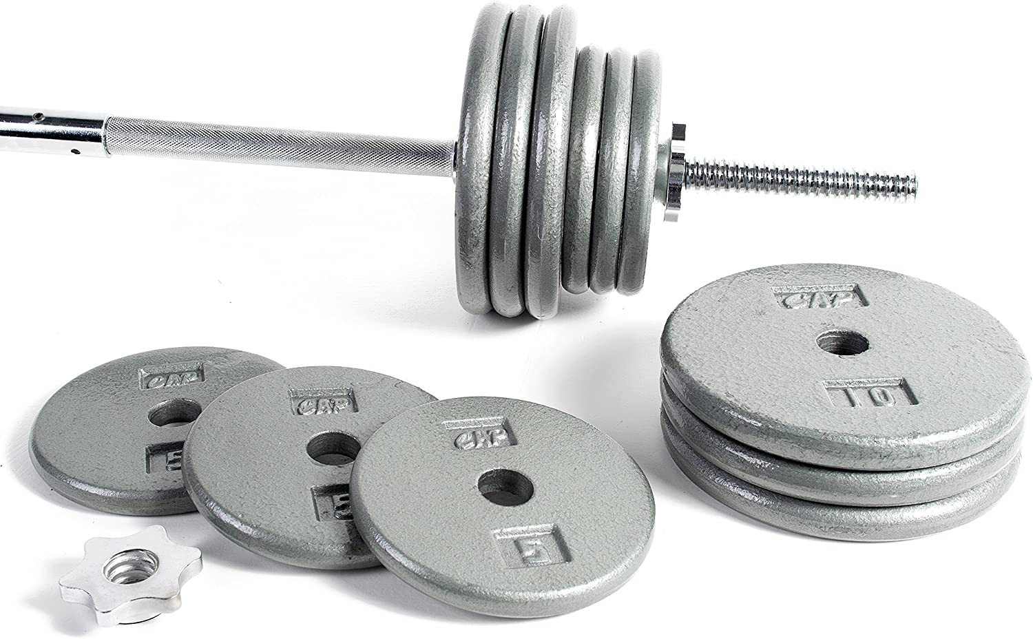 Amazon.com : CAP Barbell Standard 1-Inch Barbell Weight Set, 100-Pounds : Sports & Outdoors