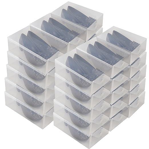 DynaSun 16154 30x PP368T - Caja para zapatos, transparente: Amazon.es: Salud y cuidado personal