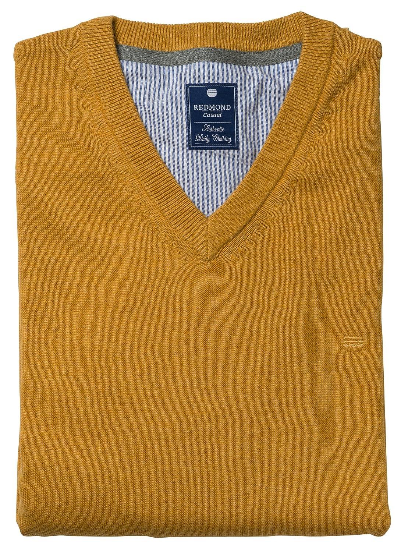 Redmond Pullover V-Neck aus 100% Baumwolle (600) in Verschiedenen Farben   Amazon.de  Bekleidung bf36a470f0