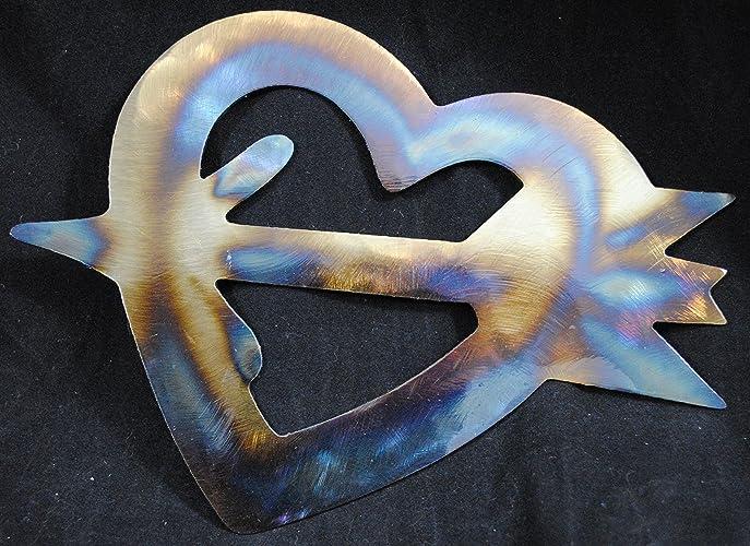 Amazon.com: Heart with Arrow Through It, Metal Heart and Arrows ...
