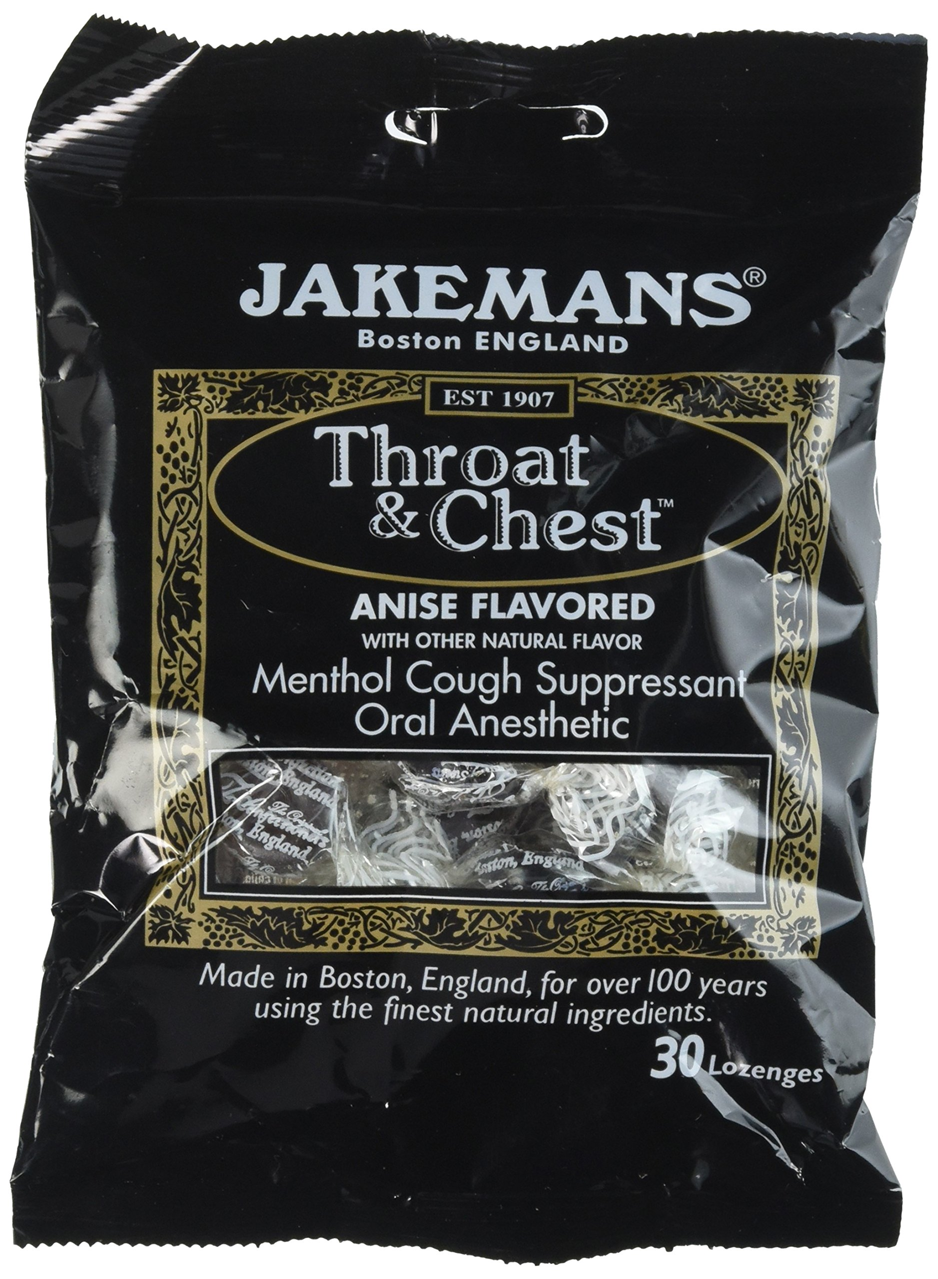 Jakeman's Throat and Chest Anise Flavored Lozenges (30), 4 Count