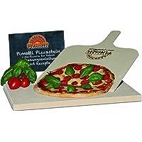 2cm Pimotti Pizzastein/Brotbackstein im Set mit Schaufel und Rezepten