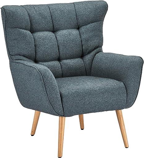 Ibbe Design Fauteuil à Oreilles Confortable Style rétro en