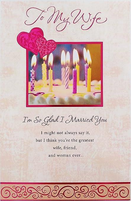 Amazon To My Wife Im So Glad I Married You Happy Birthday
