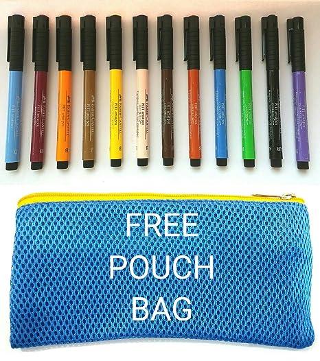 Multicolor 12 Pack Faber-Castel Pitt Artist Brush Pens