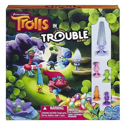 Amazon Hasbro Dreamworks Trolls In Trouble Game Toys Games