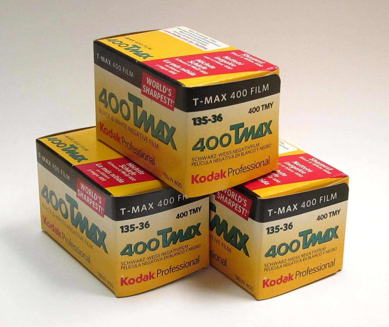 Kodak Tmax 400 Schwarzweißfilm 3 Stück Kamera